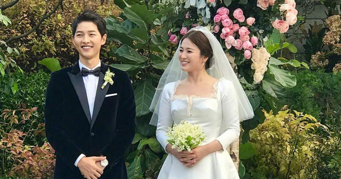 christian reveals the of song hye kyo s wedding dress
