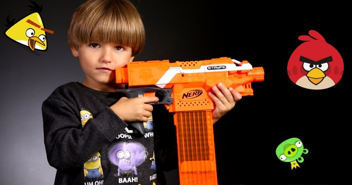 ... Foam-Dart-Machine-Gun-Motorized-Automatic-Belt-Blaster-